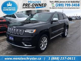 Used 2019 Jeep Grand Cherokee Summit Hemi 4x4, Navi, One Owner, Clean Carfax for sale in Whitby, ON