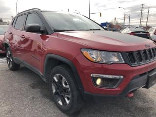 Used 2018 Jeep Compass Trailhawk AWD TrailHawk with NAV, Heated Steering, Heated Seats, Leather, BackupCam, AutoStart, Full Pwr Equip for sale in Kemptville, ON