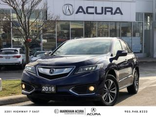 Used 2016 Acura RDX Elite at for sale in Markham, ON