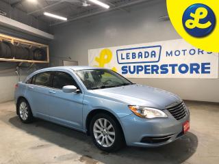 Used 2013 Chrysler 200 Hands Free Calling * Cruise Control * Steering Wheel Controls * Voice Recognition * Automatic/Manual Mode * 12V DC Outlet * Black Cloth Seats * Rear C for sale in Cambridge, ON
