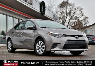 Used 2015 Toyota Corolla LE SIÈGES CHAUFFANT, BLUETOOTH, CAMÉRA DE RECUL for sale in Pointe-Claire, QC
