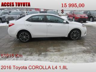 Used 2016 Toyota Corolla toit ouvrant for sale in Rouyn-Noranda, QC