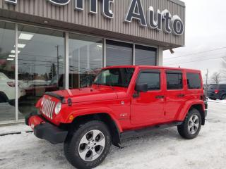 Used 2017 Jeep Wrangler Modèle Sahara 4 portes traction intégral for sale in Alma, QC