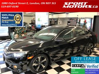 Used 2017 Honda Civic Touring Turbo+Leather+Roof+Apple Play+Lane Keep+AC for sale in London, ON