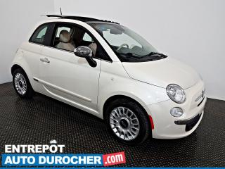 Used 2014 Fiat 500 Lounge TOIT OUVRANT - AIR CLIMATISÉ - Cuir for sale in Laval, QC