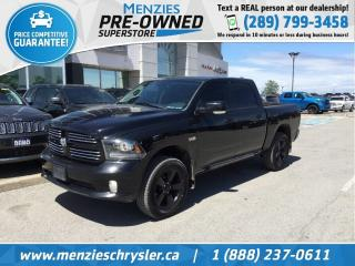 Used 2014 RAM 1500 Sport Hemi 4x4, One Owner, Clean Carfax for sale in Whitby, ON