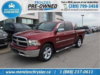 Used 2014 RAM 1500 SLT 4X4, Bluetooth, CAM, ONE Owner, Clean Carfax for sale in Whitby, ON