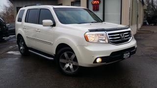 Used 2012 Honda Pilot Touring 4WD 5-Spd AT with DVD - LEATHER! NAV! BACK-UP CAM! DVD! 8 PASS! for sale in Kitchener, ON
