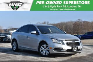 Used 2015 Chevrolet Cruze LT - Low Kms, Immaculate Inside and Out, Backup Ca for sale in London, ON