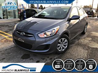 Used 2017 Hyundai Accent LE AUTOM 6 VITESSES, A/C, INSPECTÉS EN 1 for sale in Blainville, QC