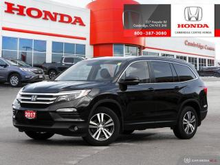 Used 2017 Honda Pilot EX DUAL CLIMATE ZONES | HONDA SENSING TECHNOLOGIES | INTELLIGENT TRACTION MANAGEMENT SYSTEM for sale in Cambridge, ON