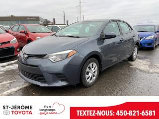 Used 2016 Toyota Corolla * CE * A/C * VITRES ELECT * for sale in Mirabel, QC