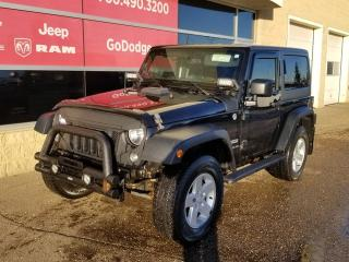 Used 2015 Jeep Wrangler Sport 4x4 / 3-PIECE HARD TOP for sale in Edmonton, AB
