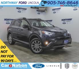 Used 2017 Toyota RAV4 Hybrid Limited | AWD | NAV | HTD LEATHER | PUSH START | for sale in Brantford, ON