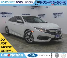 Used 2017 Honda Civic Sedan LX | HTD SEATS | BACKUP CAM | APPLE CARPLAY | for sale in Brantford, ON