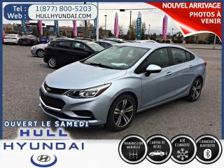 Used 2017 Chevrolet Cruze LS Manuel, super prix, TRÈS BAS KM!! WOW A VOIR!! for sale in Gatineau, QC