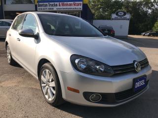Used 2012 Volkswagen Golf COMFORTLINE for sale in Beeton, ON