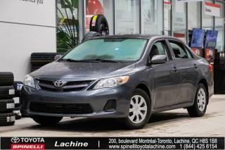 Used 2011 Toyota Corolla CE RÉGULATEUR DE VITESSE! PORT AUXILIAIRE! BAS KILOMÉTRAGE! SUPER PRIX! FAITES VITE! for sale in Lachine, QC