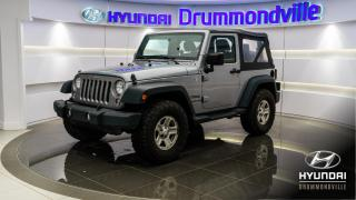 Used 2015 Jeep Wrangler EDITION SPORT + GARANTIE + A/C + WOW !! for sale in Drummondville, QC