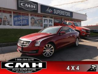 Used 2015 Cadillac ATS 2.0 Turbo Luxury  LUXURY AWD LEATH CAM for sale in St. Catharines, ON
