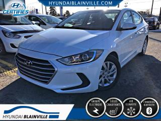 Used 2017 Hyundai Elantra LE BLUETOOTH, BANCS CHAUFFANTS, A/C for sale in Blainville, QC