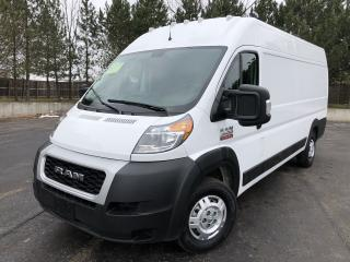 Used 2019 RAM PROMASTER 3500 TRADESMAN HIGH ROOF 2WD for sale in Cayuga, ON