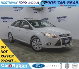 Used 2014 Ford Focus SE | KEYLESS ENTRY | CRUISE | BLUETOOTH + AUX | for sale in Brantford, ON