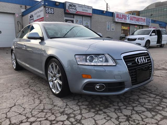2010 Audi A6 3.0L w|Nav|Rear Cam|Leather|Sunroof|