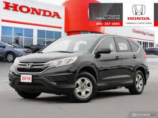 Used 2016 Honda CR-V LX REARVIEW CAMERA WITH DYNAMIC GUIDELINES | ECON MODE | BLUETOOTH for sale in Cambridge, ON