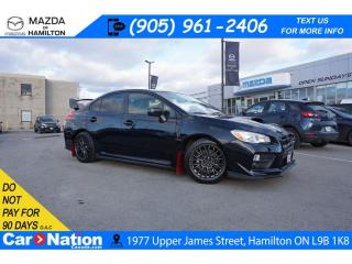 Used 2016 Subaru WRX STI STI | 6 SPEED | LEATHERETTE | REAR CAM | XM RADIO for sale in Hamilton, ON