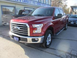 Used 2017 Ford F-150 LIKE NEW XLT MODEL 5 PASSENGER 5.0L - V8.. 4X4.. CREW.. SHORTY.. NAVIGATION SYSTEM.. HEATED SEATS.. BACK-UP CAMERA.. BLUETOOTH SYSTEM.. for sale in Bradford, ON