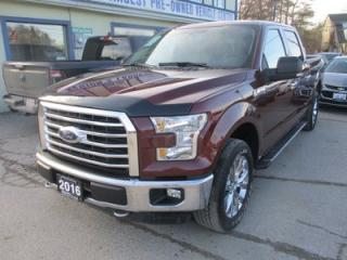 Used 2016 Ford F-150 LIKE NEW XLT MODEL 6 PASSENGER 5.0L - V8.. 4X4.. CREW.. SHORTY.. NAVIGATION SYSTEM.. HEATED SEATS.. BACK-UP CAMERA.. BLUETOOTH SYSTEM.. for sale in Bradford, ON