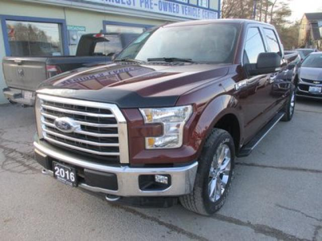 2016 Ford F-150 LIKE NEW XLT MODEL 6 PASSENGER 5.0L - V8.. 4X4.. CREW.. SHORTY.. NAVIGATION SYSTEM.. HEATED SEATS.. BACK-UP CAMERA.. BLUETOOTH SYSTEM..