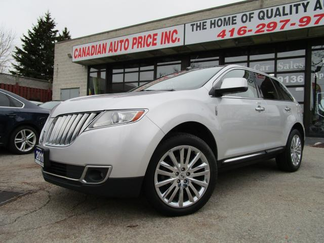 2011 Lincoln MKX AWD-RESERVE-NAVI-LTHER-360 CAM-PANO-ROOF-PARK-ASSI