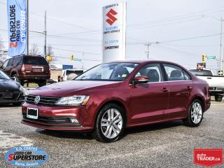 Used 2015 Volkswagen Jetta Highline ~Nav ~Cam ~Heated Leather ~Power Moonroof for sale in Barrie, ON