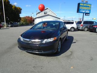 Used 2012 Honda Civic 4 portes, boîte manuelle, LX for sale in Terrebonne, QC