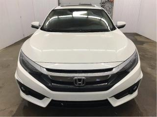 Used 2016 Honda Civic Touring Turbo Aéro Cuir GPS Toit Ouvrant MAGS for sale in St-Eustache, QC
