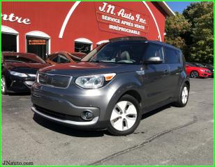 Used 2016 Kia Soul EV Luxury, 6.6 kwh,recharge 220v/400v chademo, cuir,toit ouvrant for sale in Richmond, QC