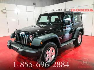 Used 2013 Jeep Wrangler SPORT + AWD + BAS KILO + MANUEL + WOW ! for sale in St-Basile-le-Grand, QC