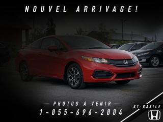 Used 2015 Honda Civic EX + COUPE + BAS KILO + WOW!! for sale in St-Basile-le-Grand, QC