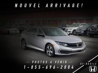 Used 2019 Honda Civic LX + DÉMO + HONDA SENSING +WOW ! for sale in St-Basile-le-Grand, QC