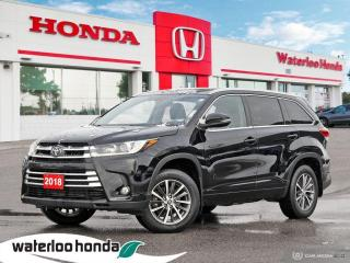 Used 2018 Toyota Highlander XLE Accident Free, One Owner Vehicle With Balance Of Factory Warranty! for sale in Waterloo, ON