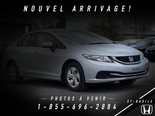 Used 2015 Honda Civic LX + BAS KILO + GARANTIE + WOW!! for sale in St-Basile-le-Grand, QC
