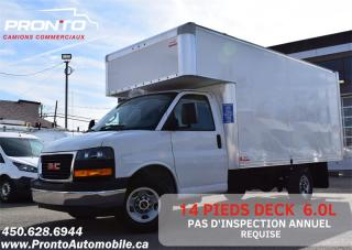 Used 2019 GMC Savana 3500 ** 6.0L ** Cube 14 pieds Deck ** RAMPE ** for sale in Laval, QC