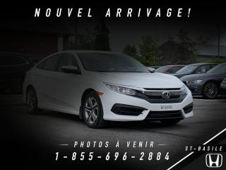 Used 2016 Honda Civic LX + ECO + BLUETOOTH + WOW!! for sale in St-Basile-le-Grand, QC