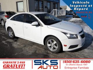Used 2012 Chevrolet Cruze LT (GARANTIE 2 ANS) FINANCEMENT MAISON for sale in Ste-Rose, QC