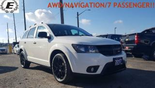 Used 2017 Dodge Journey SXT/AWD/NAVIGATION/7 PASSENGER!! for sale in Barrie, ON