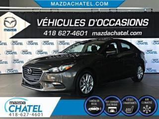 Used 2017 Mazda MAZDA3 GS - TOIT OUVRANT - SIÈGES CHAUFFANTS - CAMÉRA for sale in Quebec, QC