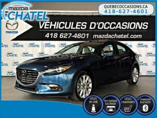 Used 2017 Mazda MAZDA3 GT - GPS - BOSE - CUIR - TOIT OUVRANT for sale in Quebec, QC
