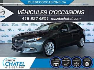 Used 2018 Mazda MAZDA3 GT - TOIT OUVRANT - SIÈGES CHAUFFANTS - CAMÉRA for sale in Quebec, QC